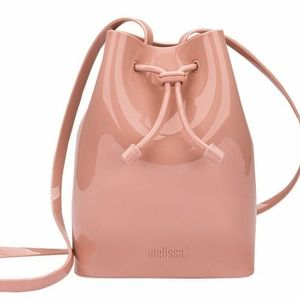 MELISSA Mini SAC Bucket BAG in Rose New w Dust bag